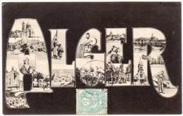 ALGER - Fantaisie Vues Multiples (58571) - Algiers