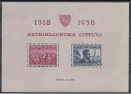 LITUANIE - 1939 - BF N° 1 - Neuf ** - MNH - Cote 15,00 € - Lituanie