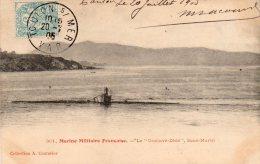 CPA ....MARINE MILITAIRE FRANCAISE...LE  GUSTAVE  ZEDE   SOUS MARIN ....PRIX: 3,99 - Sous-marins