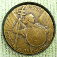 1936 BCG Défense Contre La Tuberculose D'Abel Faivre Et G Contaux Medaille Bronze Diametre 5cms 45gr+boîte - Autres