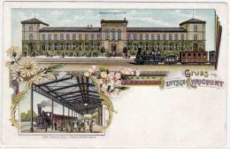 Gruss Deutsch-Aricourt - Bahnhorsgebauda -    (58596) - Lothringen
