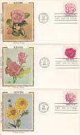 USA Scott #1876-#1879, #1879a Set Of 5 Flowers - Colorano Silk Cachet FDCs - Premiers Jours (FDC)