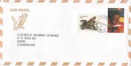 Tanzania 1999 Zanzibar Reptile Crocodile UNICEF Child Cover To Cameroon - Tanzanie (1964-...)
