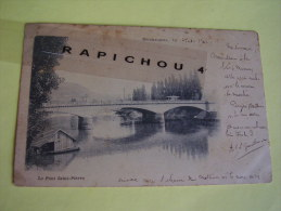 CPA - BESANCON - Le Pont Saint-Pierre (animée, LAVOIR...) - Besancon