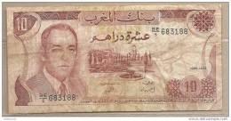 Marocco - Banconota Circolata Da 10 Dirhams P-57b -1985 - Marocco