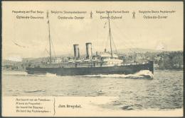 EP Carte 5 Centimes Armoirie Avec Vue Du Paquebot JAN BREYDEL, Obl; Sc ANTWERPEN 7-X-1914.  Superbe - 9166 - Stamped Stationery