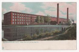 ETATS-UNIS - GREENVILLE, S.C. Cotton Mill Of F.W. Poe Mig. Co - Greenville