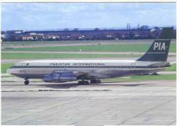 Aviation Postcard-WGA-029-PIA PAKISTAN -  BOEING 720 - 1946-....: Moderne