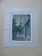 Honoré De BALZAC, Sa Maison Rue Raynouard, Peinte Au STALAG II B Hammerstein 1941 ; Ref 611 - Radierungen