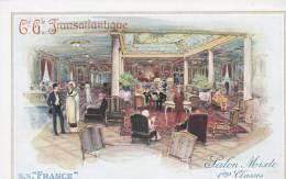 """Compagnie Générale Transatlantique. S.S.""""France"""". Salon Mixte1ères Classes - Sin Clasificación"""