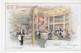 """Compagnie Générale Transatlantique. S.S.""""France"""". Salle à Manger 1ères Classes - Sin Clasificación"""