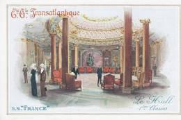 """Compagnie Générale Transatlantique. S.S.""""France"""". Le Hall 1ères Classes - Sin Clasificación"""