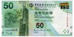 HONG KONG BOC 50 DOLLARS 2012 Pick 342 Unc - Hong Kong