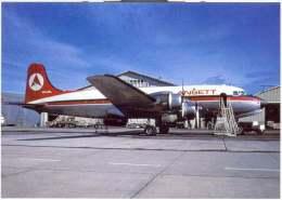 Aviation Postcard-WGA-038-ANSETT AIRLINES -Douglas DC-4 - 1946-....: Moderne