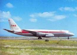 Aviation Postcard-WGA-045-TWA - CONVAIR 880 - 1946-....: Moderne