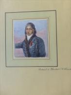 Honoré De BALZAC, Portrait De Mandot, LE CHOUAN,  Peint Au STALAG II B Hammerstein 1941 ; Ref 590 - Gouaches