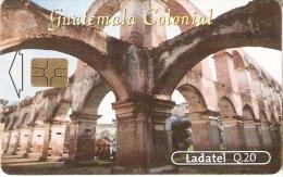TARJETA DE GUATEMALA DEL TEMPLO Y CONVENTO DE SANTA CLARA - Guatemala