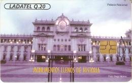 TARJETA DE GUATEMALA DEL PALACIO NACIONAL - Guatemala