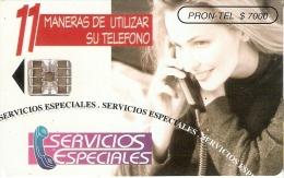 TARJETA DE COLOMBIA DE PRON-TEL DE SERVICIOS ESPECIALES - Colombia