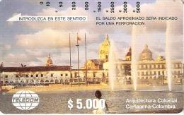 TARJETA DE COLOMBIA DE TELECOM DE CARTAGENA - Colombia