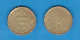 PORTUGAL  (República)  5 Escudos 1.989  Niquel-Latón KM#632  MBC/VF   DL-10.508 - Portugal