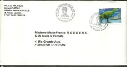 """France Oblitéré ;  Y&T  N° 3334 ; """" Allosaure """" ; Cachet Du """" 60ème Anniv De L´appel Du 18 Juin """" - Commemorative Postmarks"""