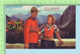 Canada ( Royal Canadian Mountain Police And A Cowgirl  Par SDC  ) Post Card Carte Postale - Uniformen