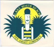 TEE SHIRT COMPANY - LAKE WORTH BEACH - FLORIDA, U.S.A. (Sticker) - Pegatinas