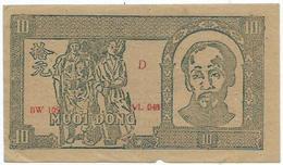 Vietnam, Giay Bac Viet Nam, 10 Dong 1948 - Vietnam
