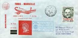 1975  Premier Vol  Air France  Tunis -Marseille  Par Airbus A 300 B - Tunisie (1956-...)