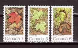CANADA 1971 Leaves Yvert Cat N° 456/58  Absolutely Perfect  MNH ** - Plants