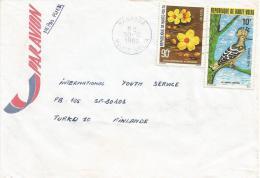 Upper Volta 1980 Banfora Flower Huppe Hop Bird Cover - Spechten En Klimvogels