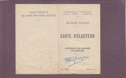 Carte Ancienne D´élection - J. PFLIEGER De Maxéville - Oude Documenten