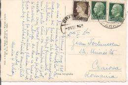 STORIA POSTALE,  IMPERIALE Cent. 10+25+25, Cent.60 IN TARIFFA CARTOLINA PER ESTERO, 1938, TIMBRO POSTE BOLZANO - Storia Postale