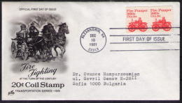 1981 USA FDC FIRE Brigade  FIRE FIGHTING - Brandweer