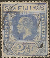 FIJI 1912 2 1/2d Bright Blue KGV SG129 U YY323 - Fiji (...-1970)