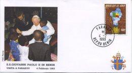 BENIN  - FDC ROMA 1993 - VIAGGIO DEL PAPA IN AFRICA - PARAKOU - FDC