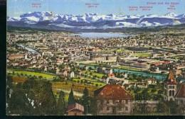 Litho Zürich Und Die Alpen Vue Generale Photoglob 2412 Um 1915 - ZH Zurich