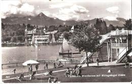 AK 693  Velden Am Wörthersee Mit Mittagskogel - Strandleben Um 1958 - Velden