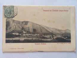 CARTOLINA  VEZZANO SUL CROSTOLO  REGGIO EMILIA   VERSANTE ORIENTALE VIAGGIATA NEL 1908 II SCELTA Affrancata Lato Veduta - Reggio Emilia