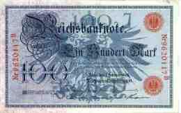 Allemagne Germany 100 Mark 7 Februar 1908 P33a - [ 2] 1871-1918 : German Empire