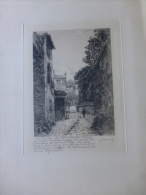 Honoré De BALZAC, Rue Berton, Eau-forte Originale Signé Henri Manesse ; Stalag II B Hammerstein 1941 ; Ref 606 - Prints & Engravings