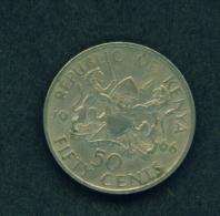 KENYA -  1966 50c Circ. - Kenya