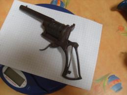 Carcasse Pistolet Lefaucheux Barillet Gravé - Sammlerwaffen