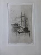 Honoré De BALZAC, Rue Raynouard, Eau-forte Originale L. Simon, épreuve D´artist ; Stalag II B Hammerstein 1941 ; Ref 612 - Prints & Engravings