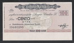 ITALIA - MINIASSEGNI - CREDITO ARTIGIANO  DA LIRE 100 E 150 - NUOVI, NON CIRCOLATI - IN OTTIME CONDIZIONI. - [10] Assegni E Miniassegni