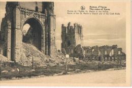 Ruines D'ypres  Ruines De L'eglise St Martin - Guerra 1914-18