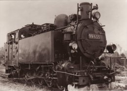 Railway Loco Data Card German NG DR Class 99 K55.8 99655 750mm 0-10-0T Germany - Picture Cards