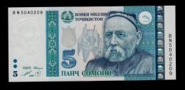 TAJIKISTAN 5 SOMONI 1999 ( 2013 ) PICK NEW  UNC - Tagikistan