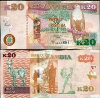 ZAMBIA 20 KWACHA 2012/2013 P NEW UNC NR - Zambia